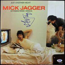 Mick Jagger Just Another Night Signed Album Cover W/ Vinyl PSA/DNA #T51421