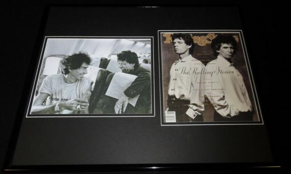 Mick Jagger Keith Richards 16x20 Framed Rolling Stone Cover & Photo Display