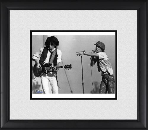 """Mick Jagger & Ron Woods Rolling Stones Framed 8"""" x 10"""" Performing Photograph"""