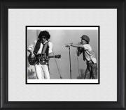 "Mick Jagger & Ron Woods Rolling Stones Framed 8"" x 10"" Performing Photograph"