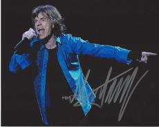 MICK JAGGER - LEAD SINGER and a Founder Member of 'THE ROLLING STONES' In 1984 JAGGER was Inducted in the ROCK and ROLL HALL of FAME - Signed 10x8 Color Photo