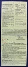 Mick Jagger Rolling Stones Signed 8.5x22 Life Insurance Application PSA #AA08909