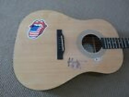 Mick Jagger Rolling Stones Signed Autographed Acoustic Guitar Beckett Certified