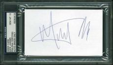 Mick Jagger Signed 3X5 Index Card Auto Graded Gem Mint 10! PSA Slabbed