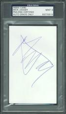 Mick Jagger Signed 3X5 Index Card Autograph Graded Mint 9! PSA Slabbed