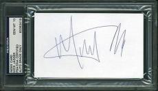 Mick Jagger Signed 3x5 Index Card w/ Graded Gem 10 Autograph! PSA/DNA Slabbed