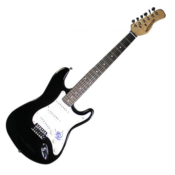 Mick Jagger Signed Stratocaster Guitar Beckett COA
