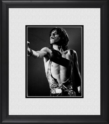"Mick Jagger The Rolling Stones Framed 8"" x 10"" in Denmark Photograph"