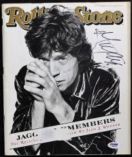 Mick Jagger The Rolling Stones Signed 1995 Rolling Stone Magazine PSA #S00804