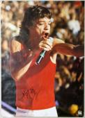 Mick Jagger The Rolling Stones Signed 23.5X33.5 Poster COA