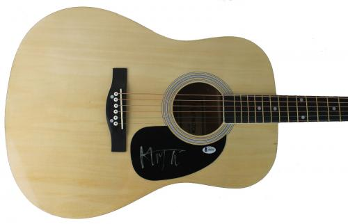 Mick Jagger The Rolling Stones Signed Acoustic Guitar BAS #A05165