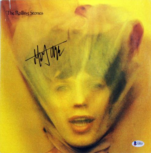 Mick Jagger The Rolling Stones Signed Goats Head Soup Album Cover W/ Vinyl BAS