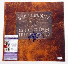 Mick Ralphs Signed Album Promo Card Bad Company Stories Told & Untold JSA AUTO