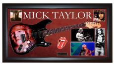 Mick Taylor Rolling Stones Signed Guitar + Display Shadowbox Case PSA AFTAL UACC