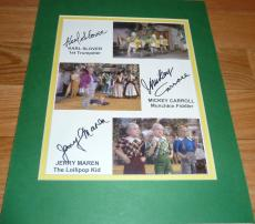 Mickey Carroll-karl Slover-jerry Maren Wizard Of Oz Munchkin Signed 8x10 Photo