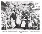 "MICKEY CARROLL ""THE WIZARD OF OZ"" One of the MUNCHKIN'S - Passes Away 2009 - Signed 10x8 B/W Photo"
