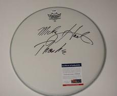 Mickey Hart 'greatful Dead' Signed Remo Drumhead Psa/dna V73558