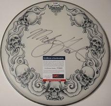 Mickey Hart 'the Greatful Dead' Signed Drumhead Psa/dna Coa V73557
