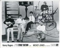 Mickey Jones Actor / Drummer First Edition And Bob Dylan Signed Photo Autograph