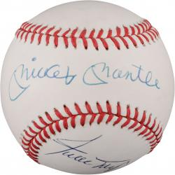 Mickey Mantle and Willie Mays Autographed Baseball (JSA)