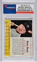 Mickey Mantle New York Yankees 1963 Jello #15 Card