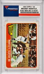 Mickey Mantle New York Yankees 1965 Topps #134 Card 2