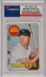 Mickey Mantle New York Yankees 1969 Topps #500 Card 4