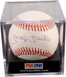 Mickey Mantle New York Yankees Autographed Baseball PSA/DNA Graded 6