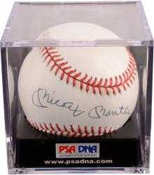 Mickey Mantle New York Yankees Autographed Baseball PSA/DNA Graded 7.5