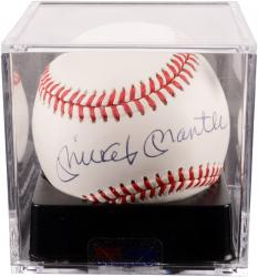 Mickey Mantle New York Yankees Autographed Baseball PSA/DNA Graded 8.5