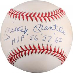 Mickey Mantle New York Yankees Autographed Baseball with MVP Inscription (PSA/DNA)