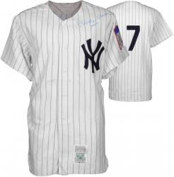 Mickey Mantle New York Yankees Autographed Cooperstown Collection Jersey with No.7 Inscription