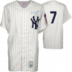 Mickey Mantle New York Yankees Autographed Cooperstown Collection Jersey with No.7 Inscription and PSA/DNA COA