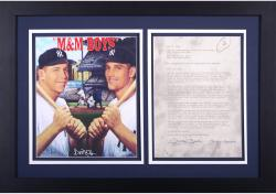 Mickey Mantle New York Yankees Framed Autographed Imagine Entertainment Contract (PSA)