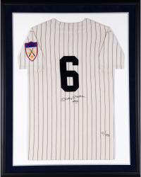 Mickey Mantle New York Yankees Framed Autographed Mitchell & Ness Jersey with #6 Inscription