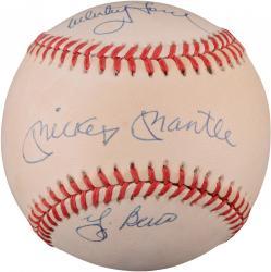 Mickey Mantle, Yogi Berra, and Whitey Ford Autographed Baseball (JSA)