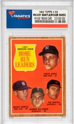 Mickey Mantle/Roger Maris New York Yankees 1962 Topps #53 Card