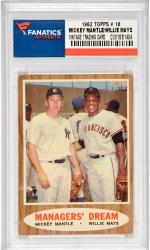 Mickey Mantle/Willie Mays New York Yankees / San Francisco Giants 1962 Topps #18 Card