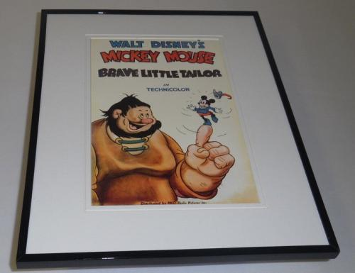 Mickey Mouse Brave Little Tailor Framed 11x14 Repro Poster Display