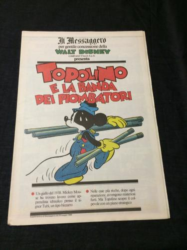 Mickey Mouse Disney Comic Italy Italian Topolino Il Messaggero Newspaper