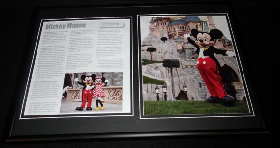 Mickey Mouse Framed 12x18 Photo Display Disney