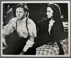 MICKEY ROONEY {1920-2014} Signed 8x10 Photo with JUDY GARLAND