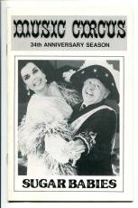 Mickey Rooney Ann Miller Frank Oliver Mickey Deems Sugar Babies Playbill