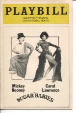 Mickey Rooney Carol Lawrence Senor Wences Sugar Babies Opening Night Playbill