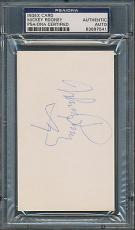 Mickey Rooney Index Card PSA/DNA Certified Authentic Auto Autograph Signed *7541