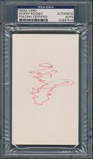 Mickey Rooney Index Card PSA/DNA Certified Authentic Auto Autograph Signed *7543