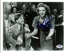 Mickey Rooney Signed Horizontal 8X10 Photo W/ Judy Garland PSA/DNA