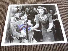 Mickey Rooney W/ Judy Garland Signed Autographed 8x10 Photo PSA Guaranteed