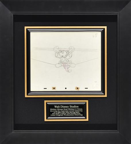 Mickey's Circus Cell – 1936 original production drawing Framed display 22x24x3