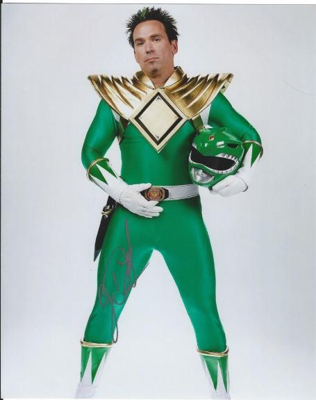 Mighty Morphin Power Rangers Jason David Frank Signed Green Ranger Photo Tommy